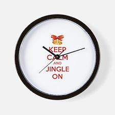 Keep calm and jingle on Wall Clock