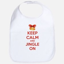 Keep calm and jingle on Bib