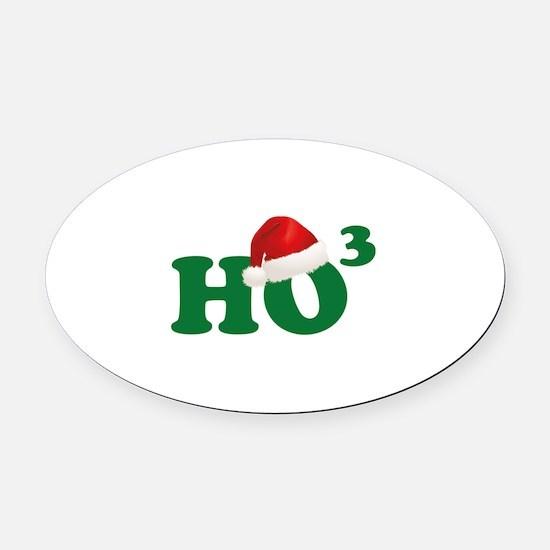 Ho Ho Ho Oval Car Magnet
