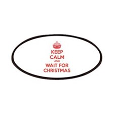 Keep calm and wait for christmas Patches