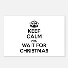 Keep calm and wait for christmas Postcards (Packag