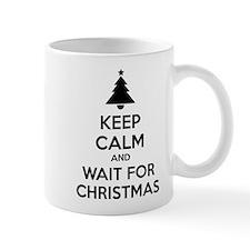 Keep calm and wait for christmas Mug