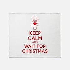 Keep calm and wait for christmas Throw Blanket