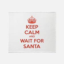 Keep calm and wait for santa Throw Blanket