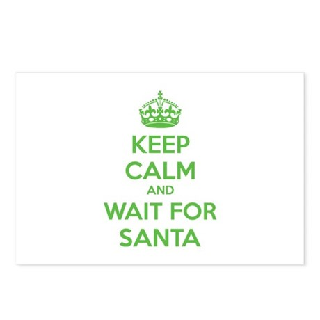 Keep calm and wait for santa Postcards (Package of