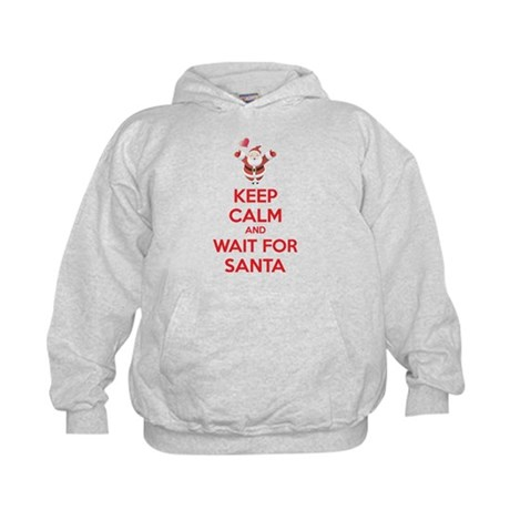Keep calm and wait for santa Kids Hoodie