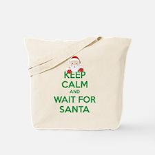 Keep calm and wait for santa Tote Bag
