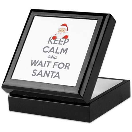 Keep calm and wait for santa Keepsake Box