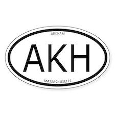 Arkham Oval Sticker (With Text)