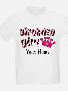 Birthday Girl Zebra T-Shirt