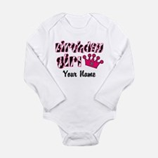 Birthday Girl Zebra Long Sleeve Infant Bodysuit