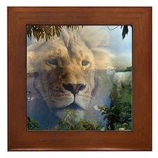 lionlamb.jpg Framed Tile