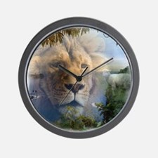 lionlamb.jpg Wall Clock