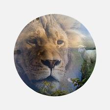 """lionlamb.jpg 3.5"""" Button"""