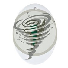 Tornado Ornament (Oval)