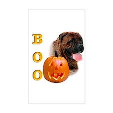 Halloween Bullmastiff Boo Rectangle Decal