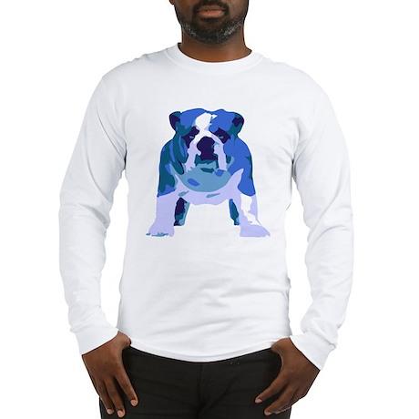English Bulldog Pop Art Long Sleeve T-Shirt
