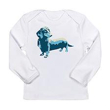 Dachshund Pop Art Dog Long Sleeve Infant T-Shirt