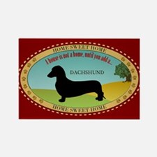 Dachshund [smooth] Rectangle Magnet