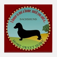 Dachshund [smooth] Tile Coaster
