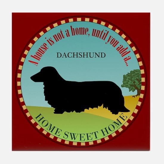 Dachshund [long-haired] Tile Coaster