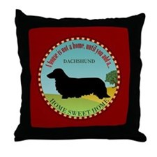 Dachshund [long-haired] Throw Pillow