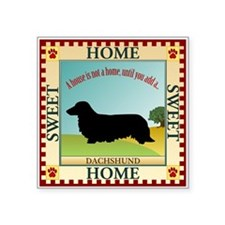 "Dachshund [long-haired] Square Sticker 3"" x 3"""