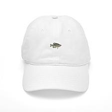 White Crappie Logo Baseball Cap