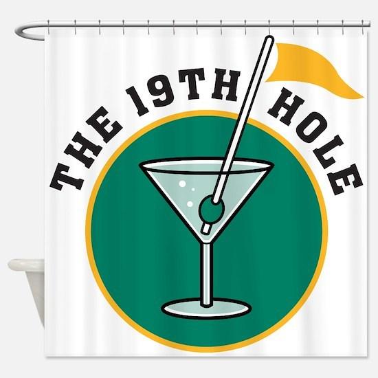19th hole Shower Curtain