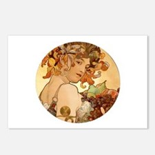 round mucha.png Postcards (Package of 8)