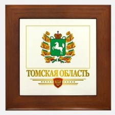 Tomsk Oblast Flag Framed Tile