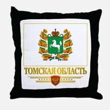 Tomsk Oblast Flag Throw Pillow