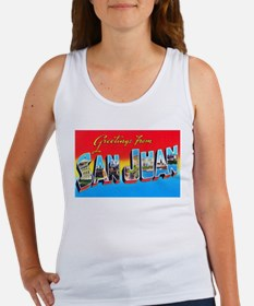 San Juan Puerto Rico Greetings Women's Tank Top