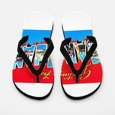 San Juan Puerto Rico Greetings Flip Flops