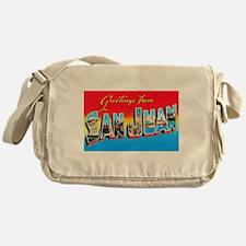 San Juan Puerto Rico Greetings Messenger Bag