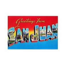 San Juan Puerto Rico Greetings Rectangle Magnet