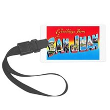 San Juan Puerto Rico Greetings Luggage Tag