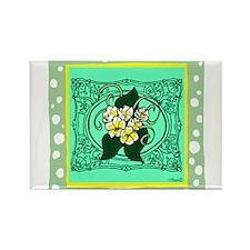Frame Flower design Rectangle Magnet