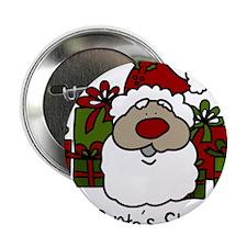 "Santas Stash 2.25"" Button"