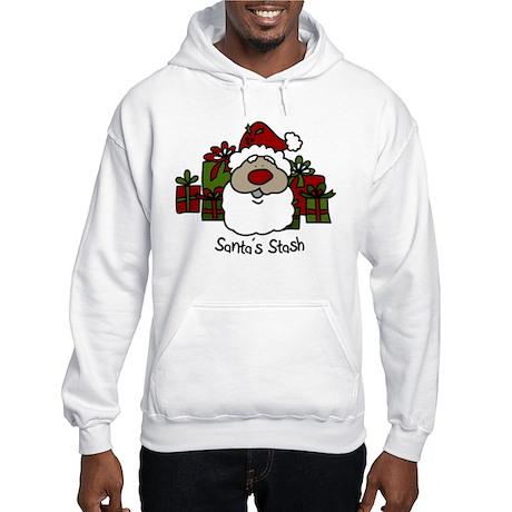 Santas Stash Hooded Sweatshirt