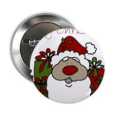 """Christmas Santa 2.25"""" Button"""