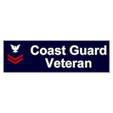 Coast Guard Veteran Bumper Sticker PO2