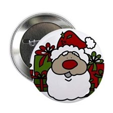 """Santa With Gifts 2.25"""" Button"""