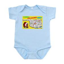Oklahoma Map Greetings Infant Bodysuit