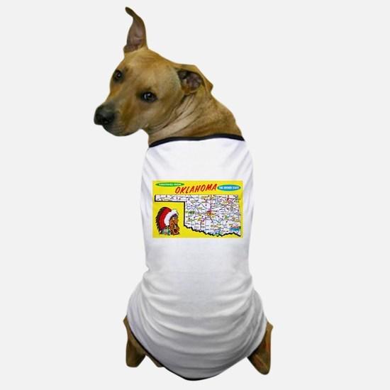 Oklahoma Map Greetings Dog T-Shirt