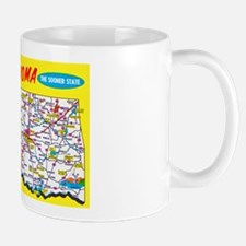 Oklahoma Map Greetings Mug