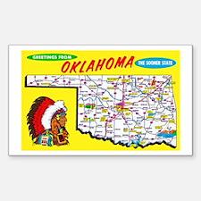 Oklahoma Map Greetings Decal