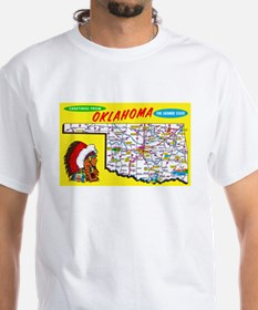 Oklahoma Map Greetings Shirt