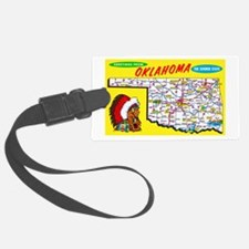 Oklahoma Map Greetings Luggage Tag