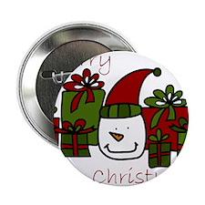 "Christmas Snowman 2.25"" Button"